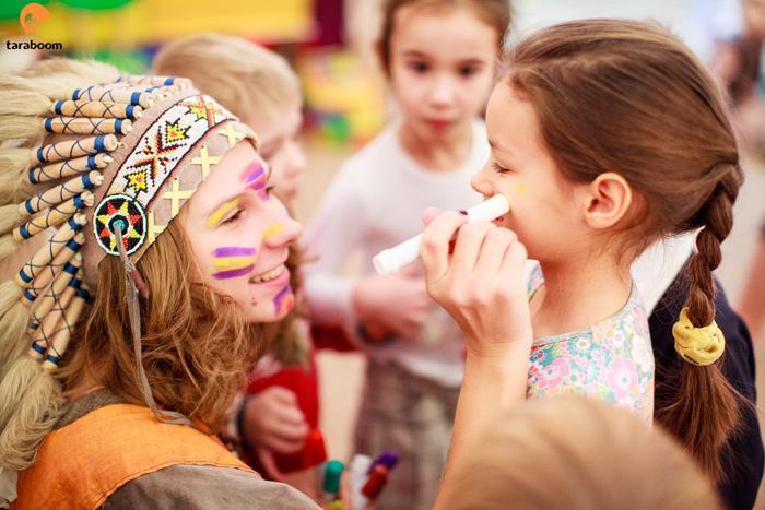 Детский праздник индейцы Аниматоры Третьяковская
