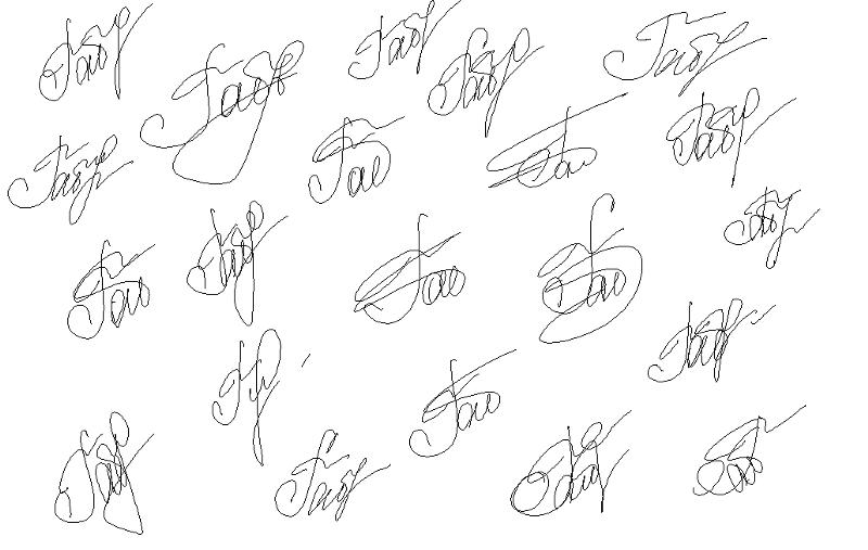 Картинки с росписями фамилий