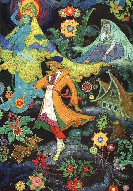 метод разложения, палехская иллюстрация медной горы хозяйка романы