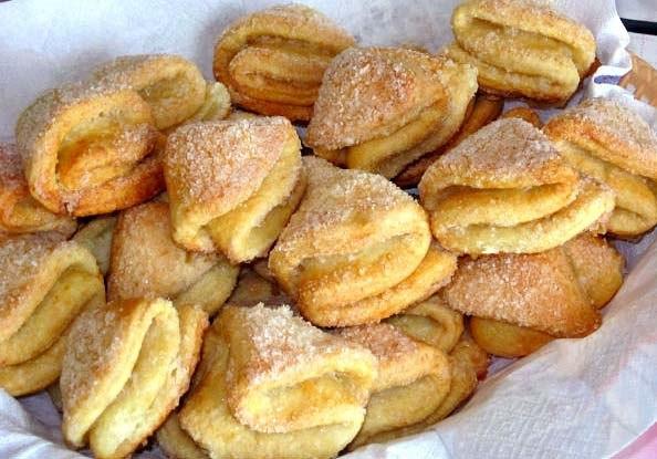 Печенье из творога Творожные ушки  кулинарный рецепт с