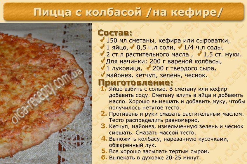 Пицца без теста рецепт с фото пошагово