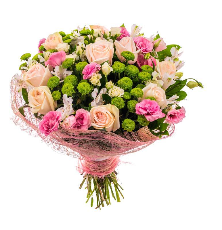 Храмов букетов, букет из английских роз и хризантем цена