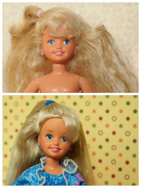 запутанные волосы как у куклы брать