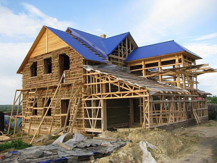 обоев фото строительство дома самому покажем