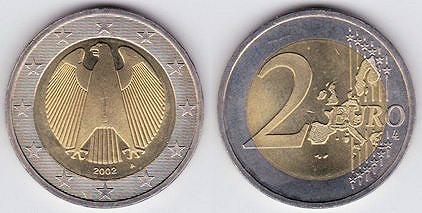2 евро 2002 года иена каталог