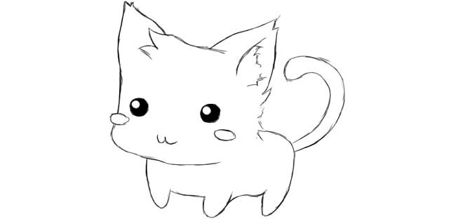 картинки для срисовки котики карандашом