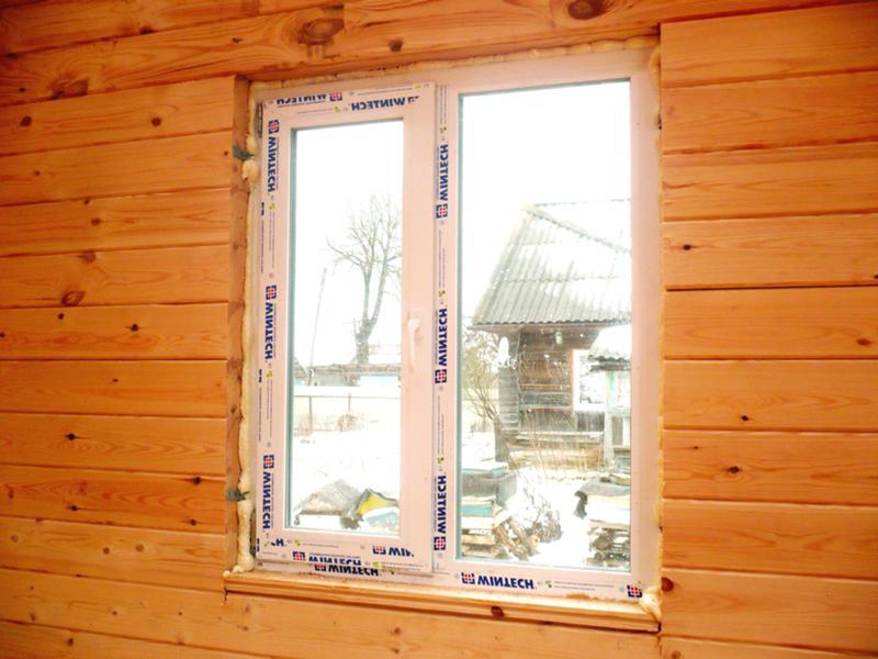 Правильная установка пластиковых окон в брусовом доме