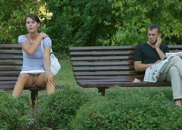 фото засветы в парке порно