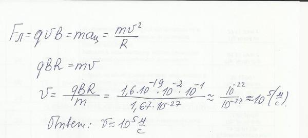 в однородном магнитном поле с индукцией 0