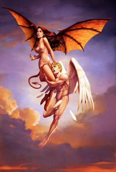 Девушка ангелодемон