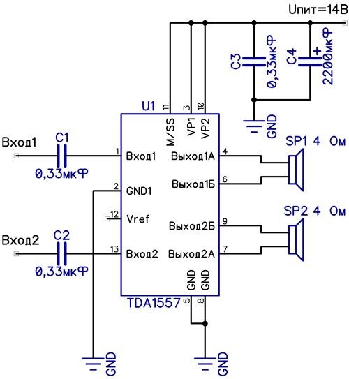 высококачественный усилитель мощности на микросхеме Наверное