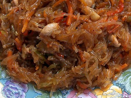 Горячие блюда из фунчозы рецепты с фото