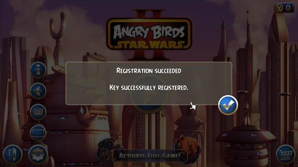 код активации angry birds star wars 2