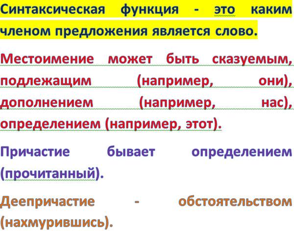 порядок слов синтаксическая функция в русском языке опухоли