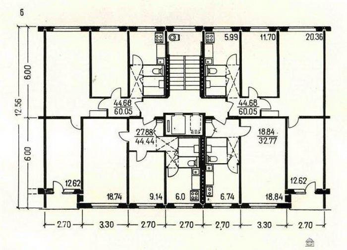 Планировка квартир в жилых домах серии ii-49 - ii-49.