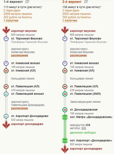 маршрут электричек москва домодедово образом