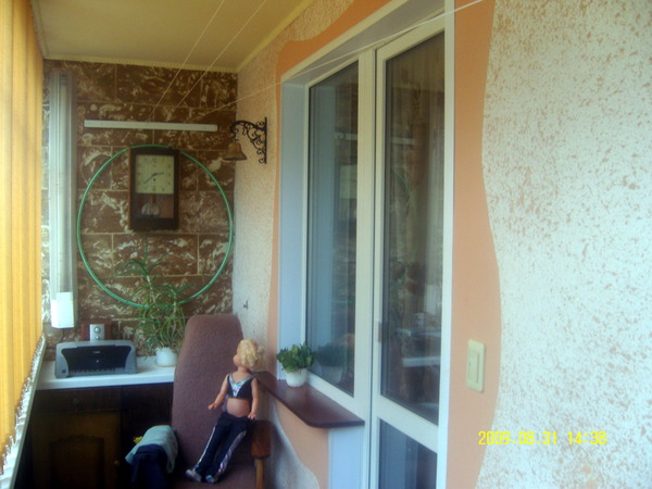 Как покрасить балкон..