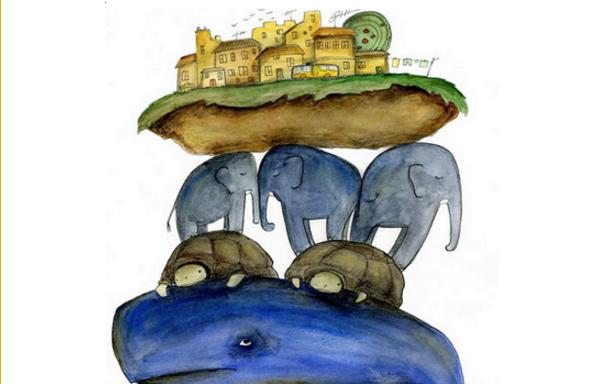 Три кита которые держат землю картинки