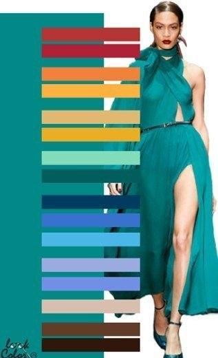 Сине зеленый цвет сочетание с другими цветами