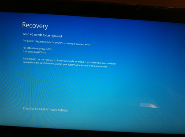 Acer Aspire Switch 10 SW5-012 Refuses to boot