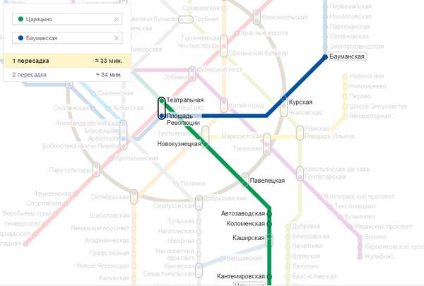 От пражского до выхино но метро как доехать