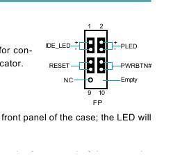 Схема подключения разъема power sw к материнке 200