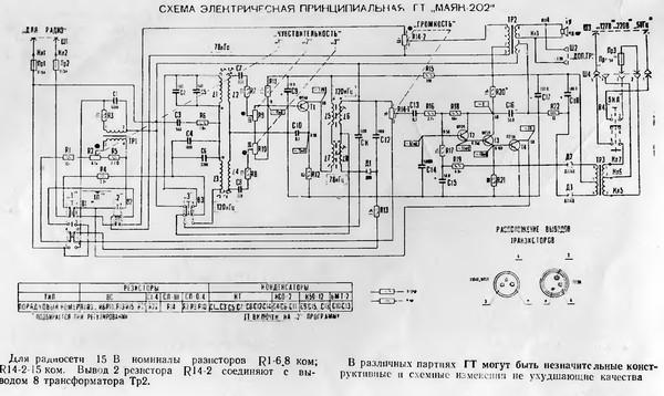 Электроника пт-203 схема