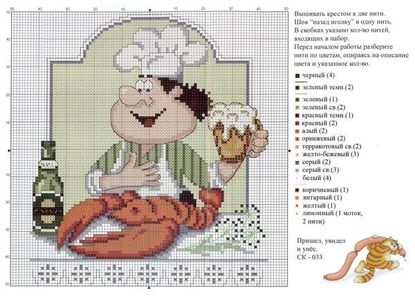 нужна схема вышивки поваренка
