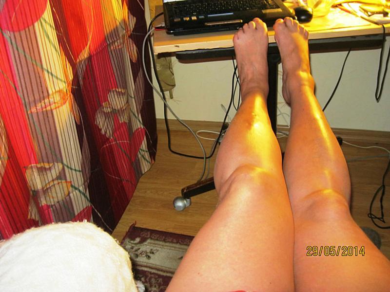 красивые ноги тети