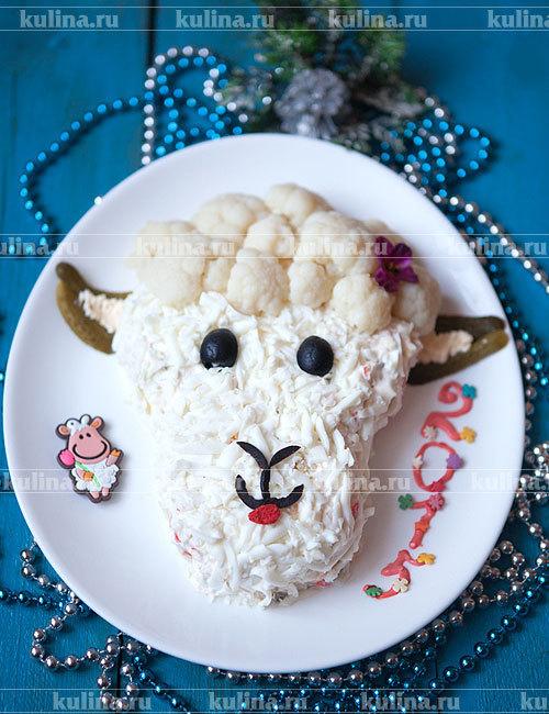 Салат овечка коза фото
