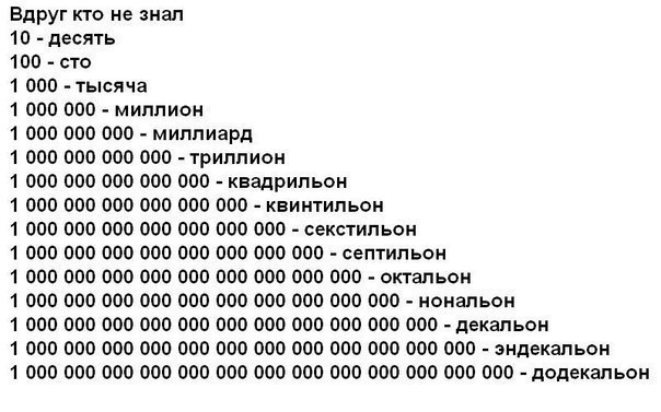 Ответы mail ru Если 1000000 это миллион то