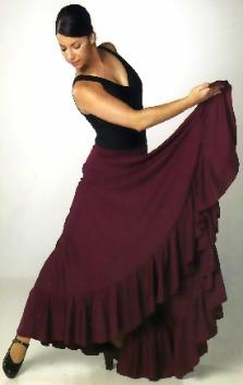 Как сшить юбку фламенко