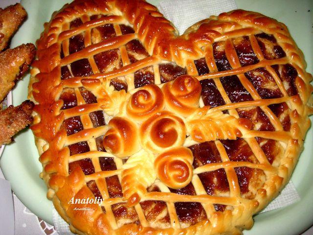 Дрожжевой пирог с повидлом рецепт с фото