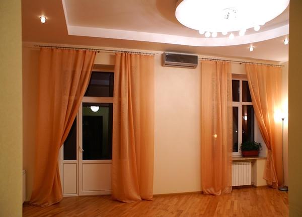 Шторы в гостиную на два окна - всё о шторах и гардинах.