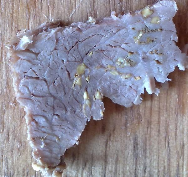 на мясе жир может быть желтым