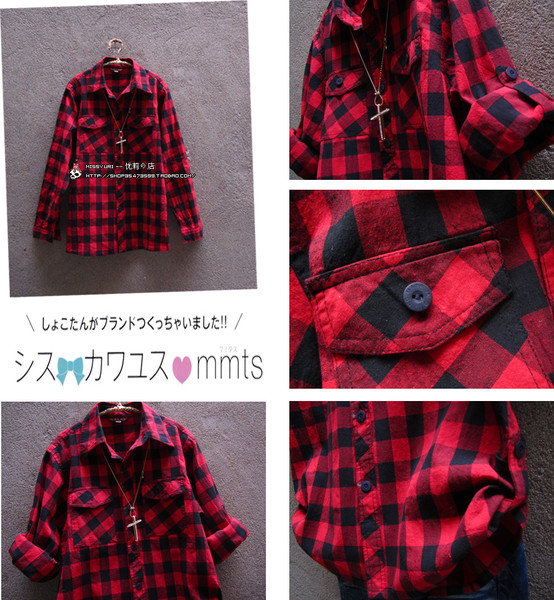 f899ef38393 Где можно купить такую женскую рубашку  (в красно- черную крупную клетку)  (фото см. внутри) Москва