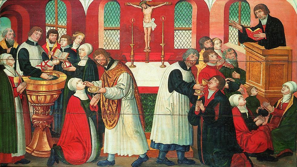 the representation of the christianity in the dichotomy of the protestant and catholic paintings of