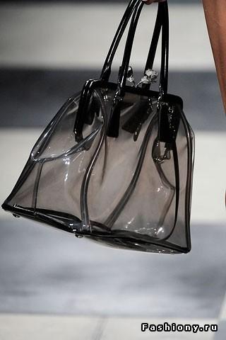 Прозрачные сумки прада