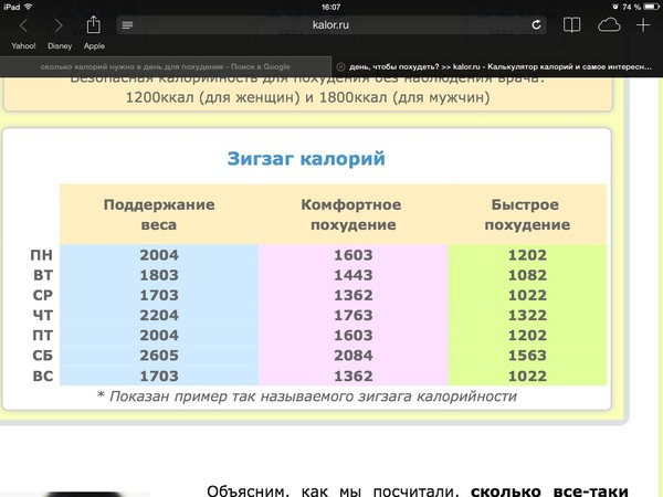 На сколько нужно похудеть калькулятор онлайн