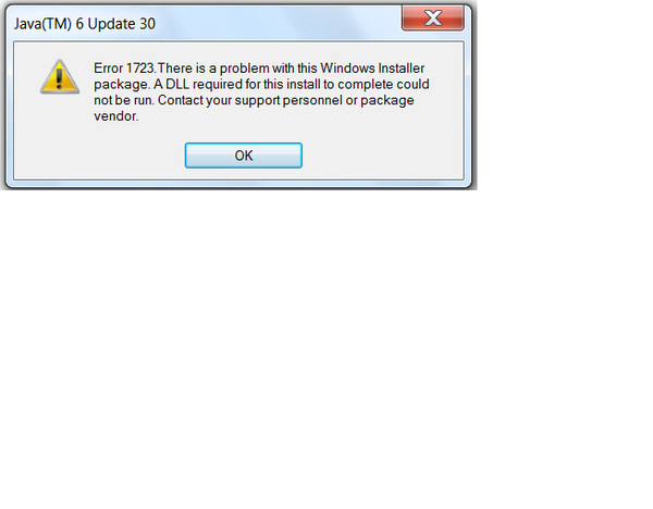Error 1723 there problem windows installer package java