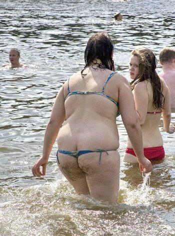 Секс фото толстые на пляже силиконовые
