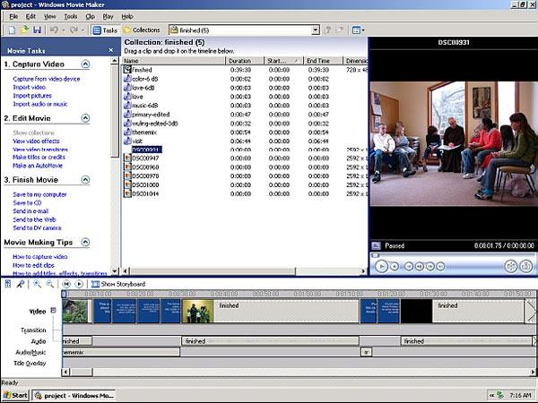 Программа для создания видеоклипов из фото стандартная