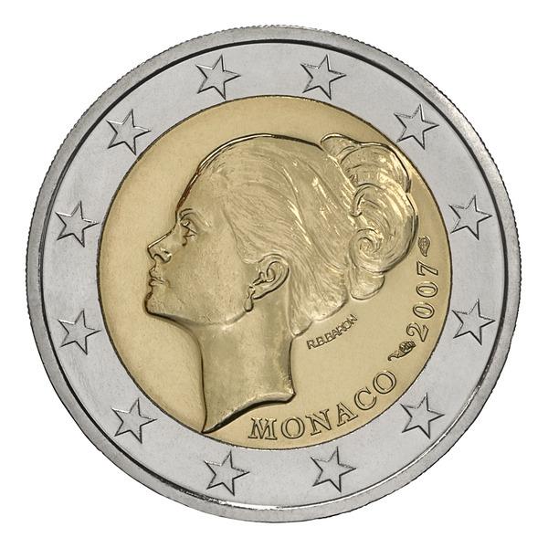 2 евро Грейс Келли