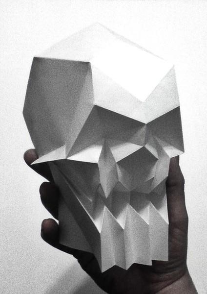 (оригами череп)
