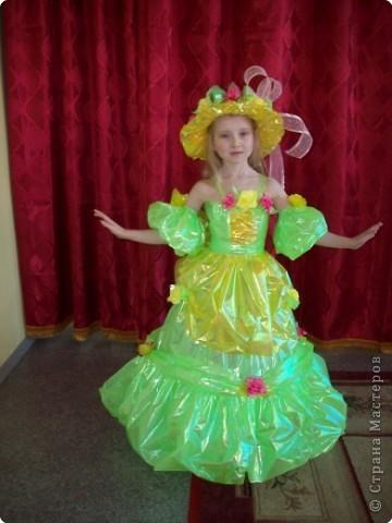 Детские костюмы из пластиковых стаканчиков