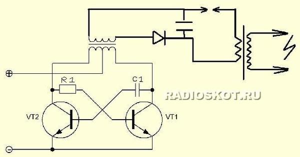 на одном транзисторе но