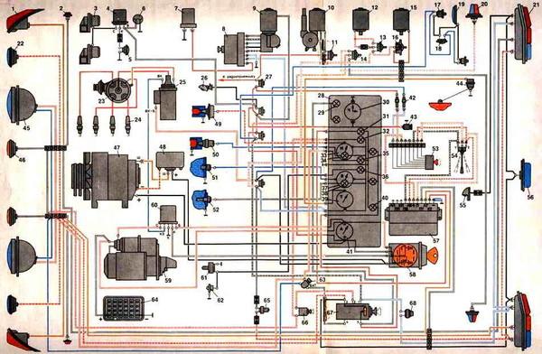 Схемы проводка к газ 53