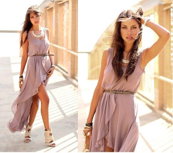 Красивое длинное легкое платье