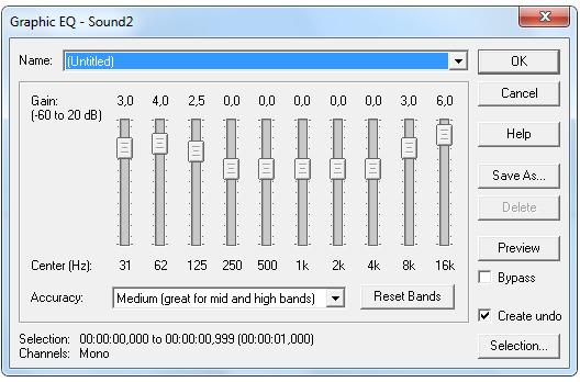 Музыка для настройки эквалайзера