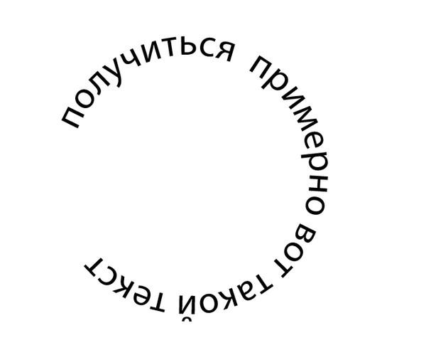 Как сделать на картинке круг с надписью, лебеди удачного